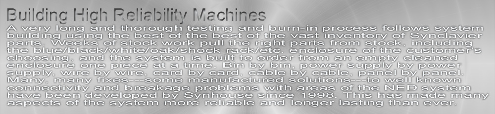 Building High Reliability Machines